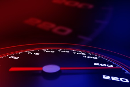 Speedometer up and close Stock Photo