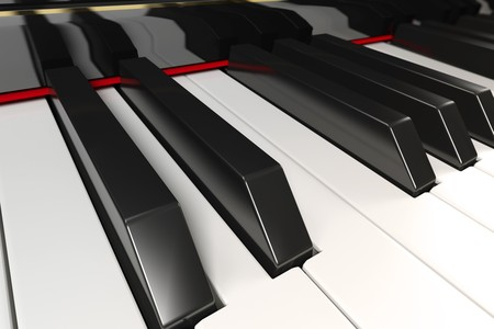 Close-up of a piano keyboard with shallow depth of field Stock Photo - 7040465