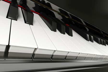 Close-up of a piano keyboard with shallow depth of field Stock Photo - 7078627