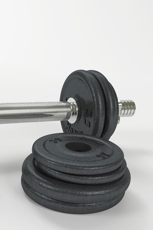 Dumbbell and weights Stock Photo
