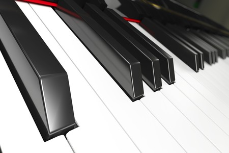 Close-up of a piano keyboard with shallow depth of field Stock Photo - 7173850