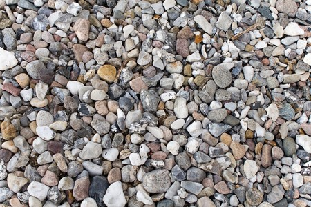 A variety of beach pebbles in different colors