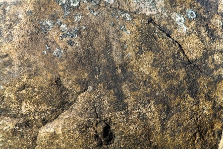Close up of a weathered granite rock - perfect for cave paintings Stock Photo
