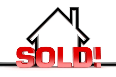selling service: A graphic depiction of sold real estate
