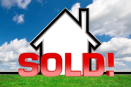 A graphic depiction of sold real estate photo