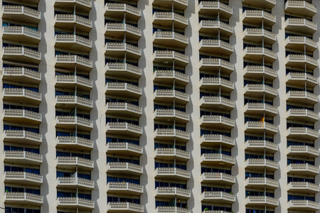 building facade with repetitive balconies