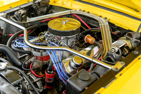 1960s yellow Ford Mustang