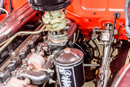 1960s red chevy truck motor