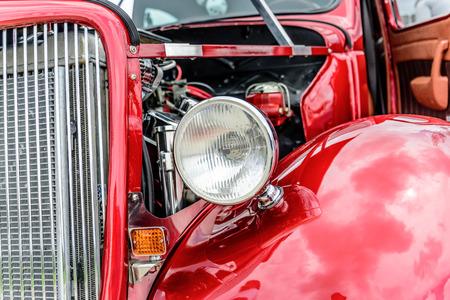 1940 s restored red ford classic sedan