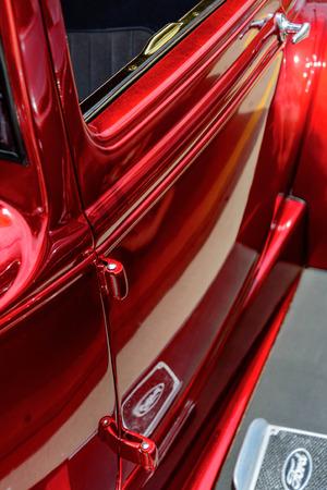 restored red  ford streetrod
