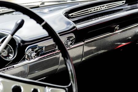 chevrolet: 1961 blue Chevrolet Impala dash