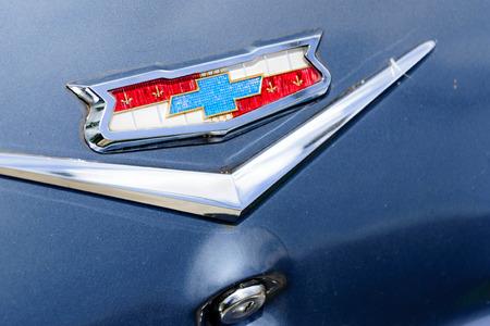 1961 blue Chevrolet Impala emblem Editorial