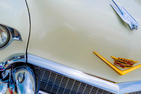 1950 s cadillac hood ornament and emblem Editorial