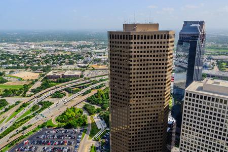Houston 시내 건물 및 고속도로