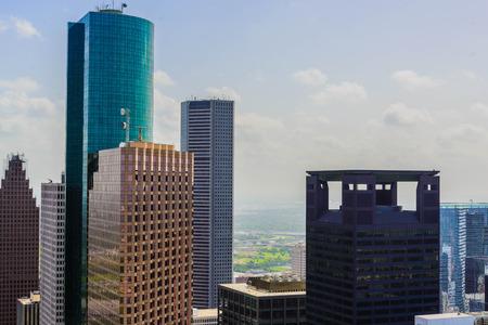휴스턴 시내의 건물과 거리 풍경 스톡 콘텐츠