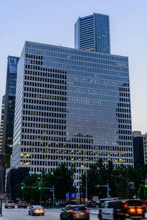 휴스턴의 거리 풍경과 건물 에디토리얼