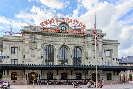Nieuwe toevoeging aan de historische Union Station in het centrum van Denver Colorado Redactioneel