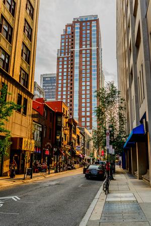 urban streetscape in downtown Philadelphia Stock Photo - 30846869