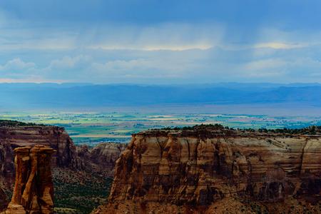 schilderachtige beelden bij Colorado National Monument
