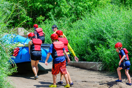 rafters: rafters carrying their inflatable raft Editorial