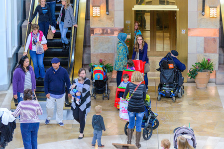 denver parks: shoppers at an indoor mall