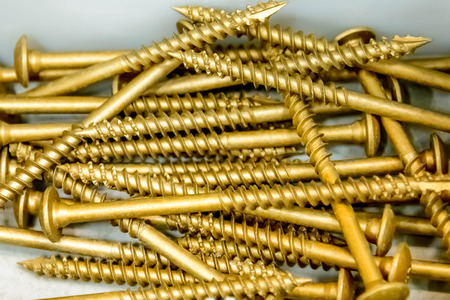 building supplies, copper screws Stock Photo - 32175464