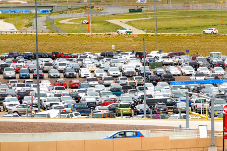 parking lot: DIA, DEN, Denver International Airport