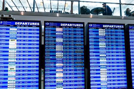 den: DIA, DEN, Denver International Airport, CO - Flight information display screens