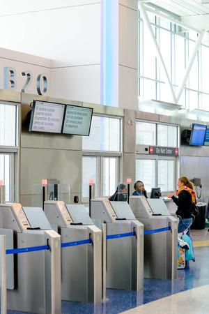 IAH, Houston Intercontinental Airport, Houston, TX, USA - modern airport gate self boarding system