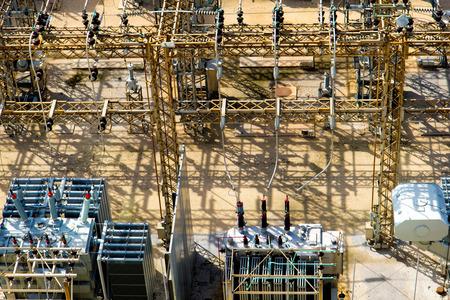 power distribution plant, electricity, transformers Reklamní fotografie