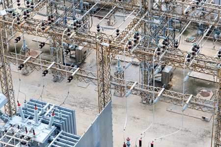 tx: electrical power substation, transformers, insulators