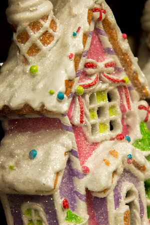 christmas house: Christmas decorations, candy house, gingerbread house