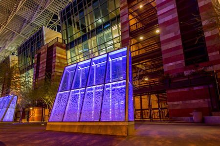 Convention Center at night in Phoenix, Arizona