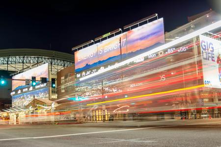 Chase Field at night in Phoenix, Arizona Editorial