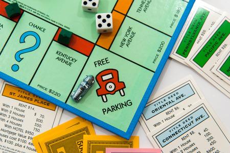 Monopoli gioco da tavolo Archivio Fotografico - 33737132