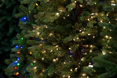 artificial lights: artificial Christmas treess with lights