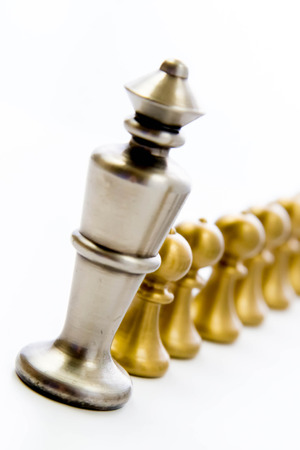 Classic chess game - King with a line of pawns