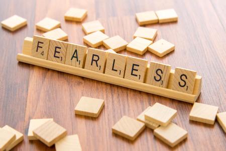 Scrabble tiles - FEARLESS