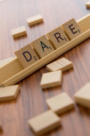 dare: Scrabble tiles - DARE