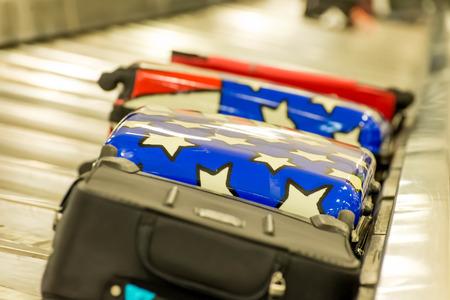 tx: IAH, Houston Intercontinental Airport, Houston, TX, USA - luggage carousel at baggage claim Editorial