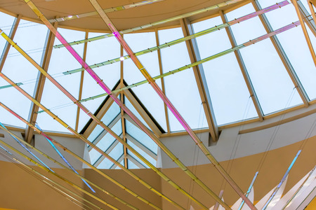 IAH, Houston Intercontinental Airport, Houston, TX, USA - artwork in front of a skylight