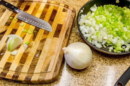 Thanksgiving meal preparation Stock fotó