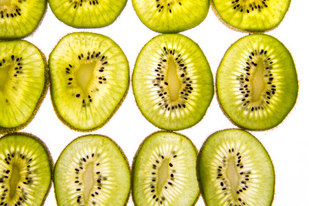 kiwi slices with backlighting Reklamní fotografie