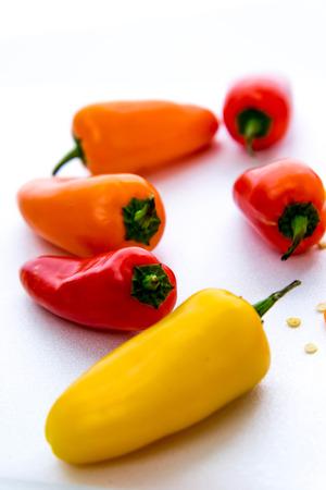 chiles picantes: rodajas, amarillo, aj� rojo naranja