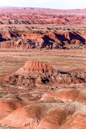 arizona scenery: view across the painted desert in Arizona, USA Stock Photo