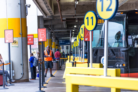 dc: October 3, 2014: Washington, DC Union Station Greyhound bus terminal