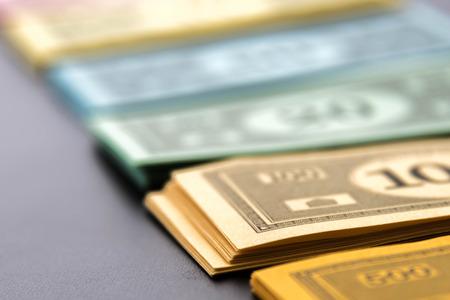monopoly money: February 8, 2015 - Houston, TX, USA.  Monopoly money Editorial
