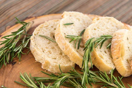 a fresh baked loaf of rosemary bread