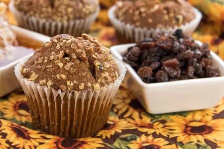 bran: Fresh made honey raisin bran muffins