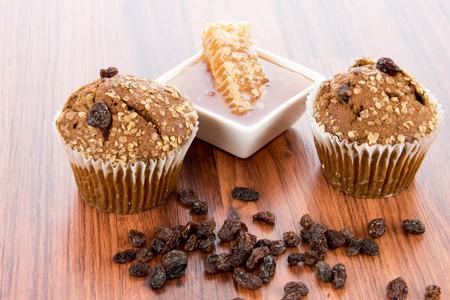 Fresh made honey raisin bran muffins